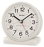 Seiko Wecker, Kunststoff, weiß, 11.1 x 10.3 x 5.6