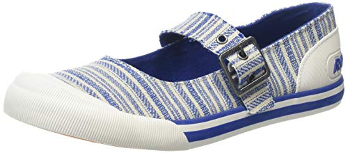 Blaue Canvas-mary Jane (Rocket Dog Damen Jazzin Mary Jane Halbschuhe, Blau (Blue B00), 39 EU)