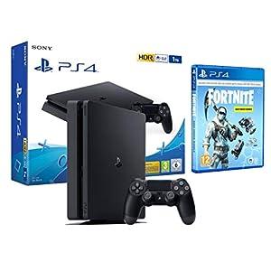 b2a3ef60627bb PS4 Slim 1Tb Negra Playstation 4 + Fortnite Lote de Criogenización  Incl  1000 paVos