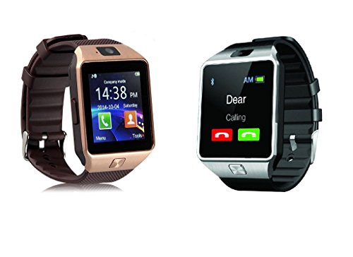 Samsung Galaxy Note 3 Neo Compatible PACK OF 2 Bluetooth Smart Watch Dz09 Phone With Camera And Sim Card & Sd Card Support Fitness Band Fit Features Compatible With Andriod devices by JIKRA  available at amazon for Rs.2999