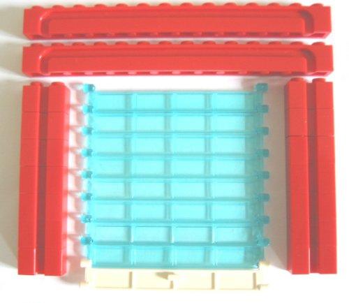 Preisvergleich Produktbild LEGO City - komplettes Rolltor in rot - Garagentor - Sektionaltor - 24-teilig