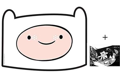 Finn from Adventure Time Karte Partei Gesichtsmasken (Maske) - Enthält 6X4 (15X10Cm) - Adventure Time Finn Kind Kostüm
