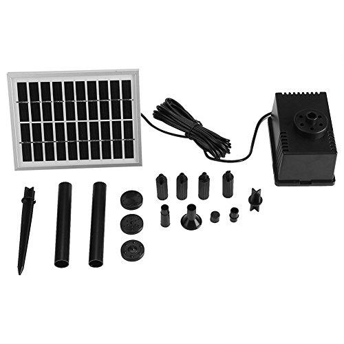 Especificación: Condiiton: 100% a estrenar Material: Plástico Color: negro Parámetro de la bomba: 220L / H Cantidad máxima de flujo de la bomba: 220 l / h El poder de la bomba: 9v, 1.58w El poder de los paneles solares: 10V / 2W Cabezal máximo: 1M El...
