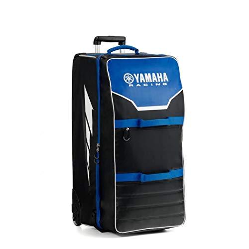 Trolley originale Yamaha paddock blu borsa capiente porta stivali casco abbigliamento moto viaggio strada pista racing turismo resistente pilota gare ufficiale MX SBK MotoGP 150litri 85x 45x 45cm