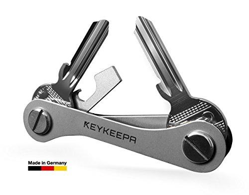 KEYKEEPA - Der Schlüssel Organizer MADE IN GERMANY - für bis zu 16 Schlüssel, inklusive Flaschenöffner und Öse (Edelstahl)