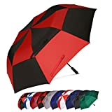 Eono Essentials, ombrello da golf, portatile, doppio telo, antivento, automatico, resistente e oversize, 158 cm,6 inch