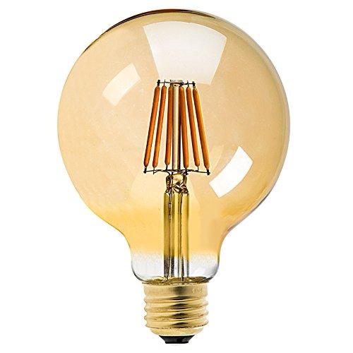 Dimmerabile lampadina led filamento retrò vintage edison e27bianco caldo 220v angolo 360gradi colore ambrato uk illuminazione (g958w amber)