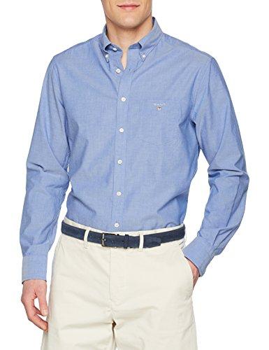 GANT Herren The Broadcloth Reg Bd Freizeithemd, Blau (College Blue 436), X-Large (Herstellergröße: XL)