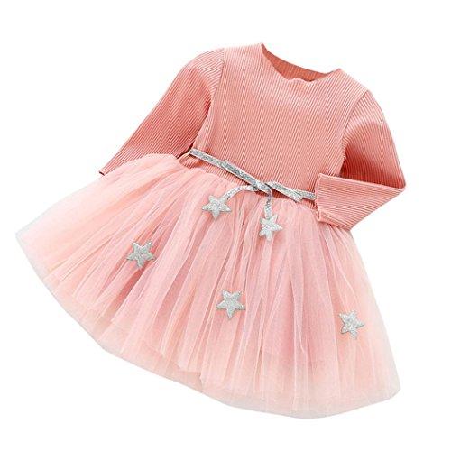 Kleid Mädchen, HUIHUI Festlich Prinzessin Party Kleid Mode Star Lange Ärmel Rock Casual Frühling Sommer Herbst Bekleidung 0-24 Monate (100 (12-18Monate), ()