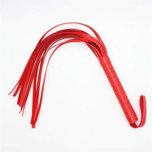 CXQ Bequeme und einfach zu haltende Lederpeitsche für Damen, perfekt für Halloween T-Shirt (Color : Red)