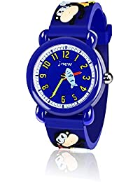 Ouwen Gifts for 3-12 Year Old Boys, 3D Cute Cartoon Kids Waterproof Watch 3-12 Year Old Boys Gifts Boy Gifts Age 3-12 Toys for 3-12 Year Old Boys Monkey OWUKWC05