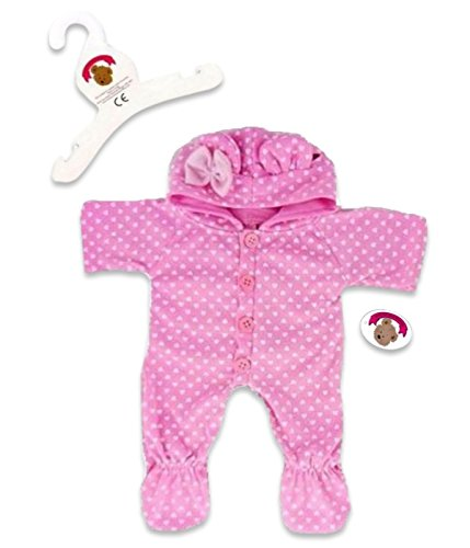 Build a Bear fit Pink Onesie Outfit Teddy Bear Clothes for 15