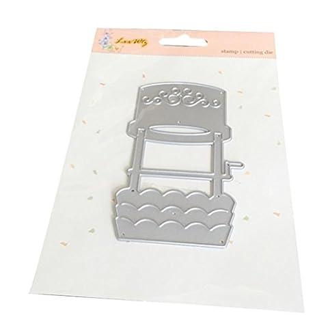 Igemy 1 PCS Neue Blume Herz Metallschneiden Schablonen DIY Scrapbooking Album Papier Karte Handwerk (J)