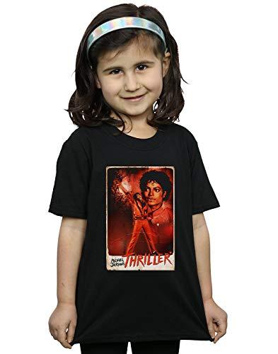 Michael Jackson Mädchen Thriller Stance T-Shirt Schwarz 7-8 Years