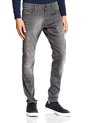 G-STAR Herren Slim Jeanshose Defend Super Slim - Slander superstretch Gr. W36/L30 (Herstellergröße: 36/30) Grau (lt aged destroy 1243)