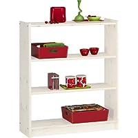 Steens Axel Pine Bookcase 2-Shelves, Whitewash Finish