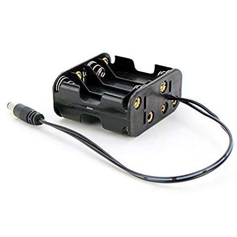 Mi·Light 8 x AA 12V Battery Holder Case Box 12V DC 8-Cell Battery Power Supply - AA Battery Power Supply (Pack of