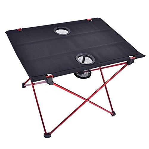 Mit Picknick-tisch Folding Stühlen (Suyi Ultralight Portable Folding Travel Camping Tische mit Cup Halter, Aluminium Alloy Frame, Anti-Riss Oxford Cloth Cover, Anti-Rutsch-Füße, mit Tragetasche, für Picknick-Camp Beach)