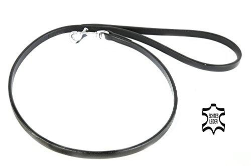 05 Einzelnes Licht (Kurze Hunde-Leder-Leine für große hunde von Monkimau, weiches Rindsleder, schwarz, verchromter Messing Verschluss, Einzelleine, Führleine, sehr gute Qualität (18mm X 100cm))