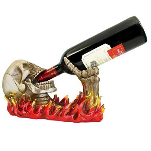 JIUJIAWA Rotwein Rack Flamme Sneaky Weinhalter Regal Dekoration Ornamente Kreative Geschenk Für Weihnachten