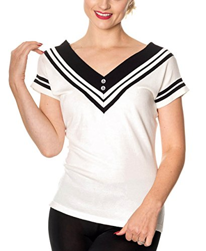 Banned Dancing Days Shirt CEDAR TOP 1214 White