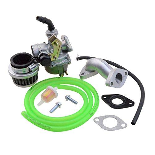 Goofit 19mm Racing Hand Kabel Vergaser Luftfilter Montage Carb Einlass Choke Rohrdichtung Kraftstoffschlauch SUNL Linie 50cc 70-110 125cc ATV Dirt Taotao (grün)