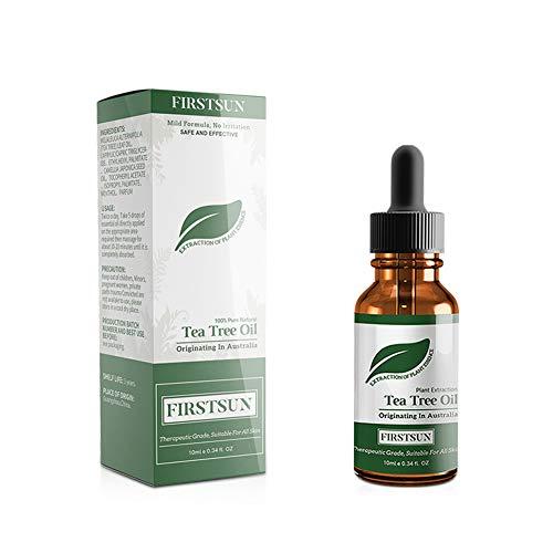 Beito 1 Flasche Teebaumöl Ätherisches Öl Natürliche Schönheitsfleck-behandlung Akne Reparatur Haut Feuchtigkeitscreme allen Hauttypen für Gesicht