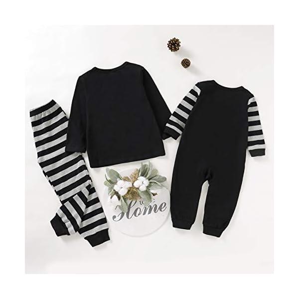 Haokaini Conjunto de Pijamas a Juego de la Familia de Navidad Conjunto de Pijamas de Ropa de Dormir de batería para… 5