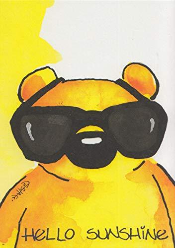 Bärchen Postkarte Hello Sunshine