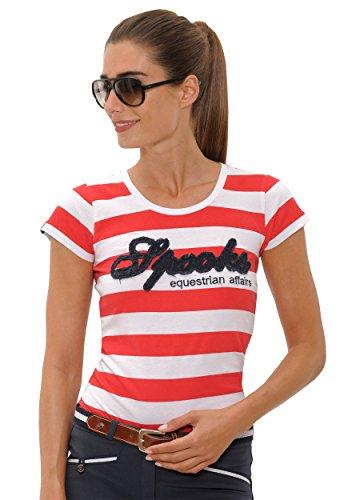 Spooks T-Shirt Annalena Shirt red/white Größe S