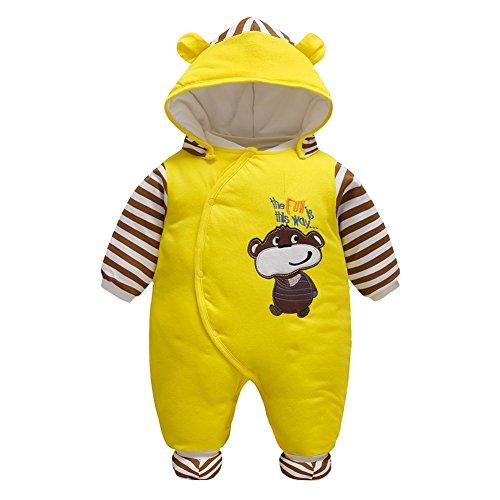 (Baby Bekleidung Madchen Jungen Jumpsuit Rompers Hooded Einteiler Strampler Spielanzug 59-80cm)