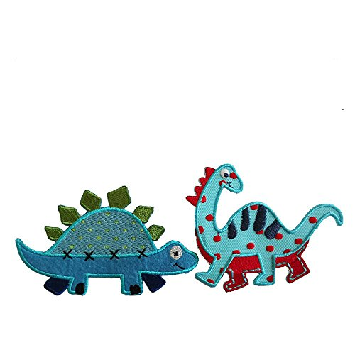 diplodocus-10x8cm-stegosaurus-11x7cm-iron-on-designer-patch-used-for-clothing-fabric-gifts-crafts-je
