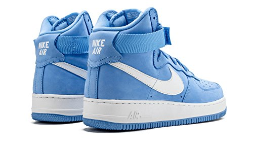 Air Force 1 Hi Retro Qs, vertice Bianco / Lupo grigio, 8 M Us Azul / Blanco (University Blue/Summit White)