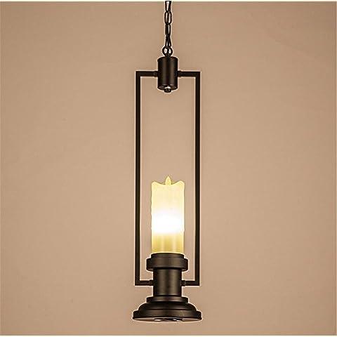 MEIWEI lámpara colgantela luz LED de la vela de la vendimia hierro forjado dormitorio de la lámpara pendiente de la lámpara sala de