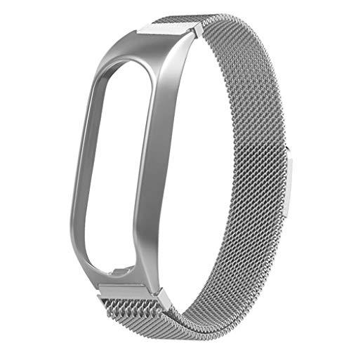 Upxiang Kompatibles für Tomtom Touch Milanese Mesh Ersatzarmband mit Magnetische Schleife Fitness Tracker Uhrenarmband mit Lünette Verstellbare Wrist Band Strap (Schwimmer Fitness-tracker)