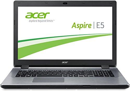Acer Aspire E5-771-30A7 43,9 cm (17,3 Zoll) Laptop (Intel Core i3 4030U, 1,9GHz, 4GB RAM, 1000GB HDD, Intel HD 4400, DVD, Win 8.1) silber (I3 Win8 Laptop)