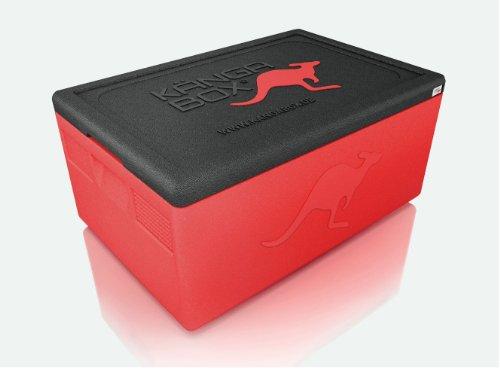 KÄNGABOX Mini EX3075RT rot, Thermobox, Inhalt 1,5 l. Stabil, leicht, klein, stapelbar. Verwendbar als Vesperdose, Vorratsdose, Lunch Box, Kühlbox, Isolierbox oder als Werbeartikel. Als Behälter für Zerbrechliches, Fotozubehör und für Eis und Schokolade. Für Picknick, Camping, Reise, Einkauf, Schule und Arbeit.