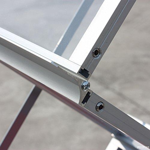 vaiigo Aluminium Broschüre Display Ständer Stationery Gestell Pop-Up Zusammenklappbarer Magazin Rack (6Taschen) Messe