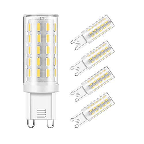 G9 Led Glühbirne 40W Halogenlampe Ersatz G9 Base Bi Pin Light Glühbirnen 120V Tageslicht Weiß 6000K G9 Led Lampe für Ceiling Light Fittings Chandelier Innenbeleuchtung -