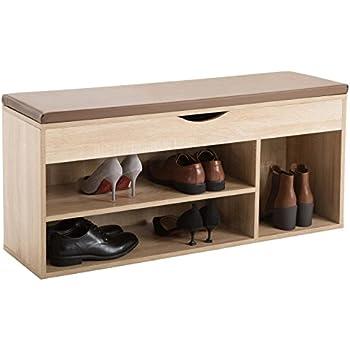 caro m bel schuhbank scarpa schuhregal sitzbank schuhtruhe 104 cm breit inkl sitzkissen in. Black Bedroom Furniture Sets. Home Design Ideas
