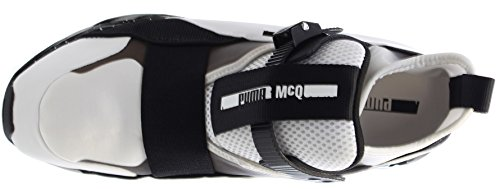 Alexander McQueen By Puma Cell Mid Synthétique Baskets White-Black