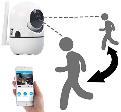 7links Camera: WLAN-IP-Überwachungskamera mit Objekt-Tracking & App, HD, 360° (Kamera mit Bewegungsmelder)
