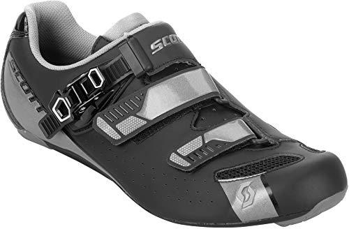 Scott Road Pro per bici da corsa scarpe Nero/Grigio 2018, Uomo, matt black/gloss grey, 43