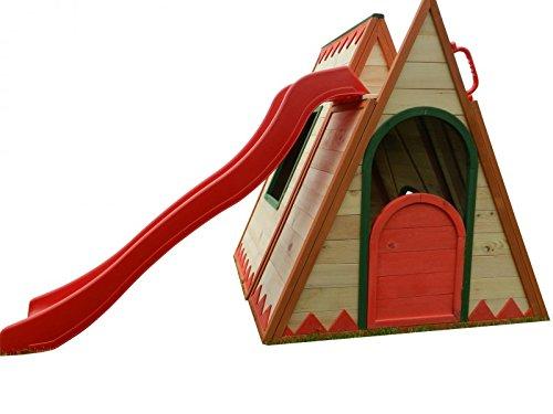 Kinderspielhaus TINI - Spielhaus aus Holz mit Rutsche