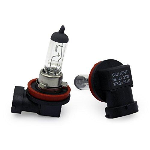 2x Halogen Nebellampe CLEAR - WARM WEISS Glühlampen für Nebelscheinwerfer 12Volt von Jurmann Trade GmbH® Mit E-Prüfzeichen somit zugelassen im Bereich der STVZO (2x H8 35W)