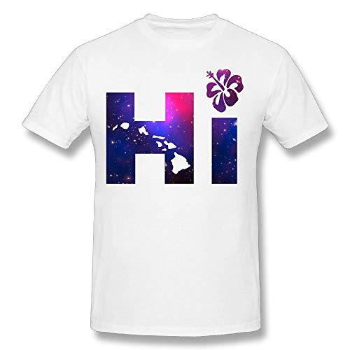 fce44c6e333e Men's Hi Hawaiian Islands Galaxy Funny Graphic tee Mens Cotton T-Shirt
