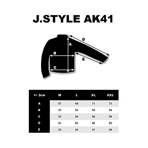 BOLF – Felpa con cappuccio – Con stampa – Con zip – Uomo [1A1] Antracite
