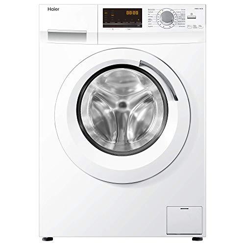 Haier HW80-14636 Waschmaschine FL/A+++ / 195 kWh/Jahr / 1400 UpM / 8 kg/Aqua Protect/Antibakterielle Türmanschette und Waschmittelschublade/weiß