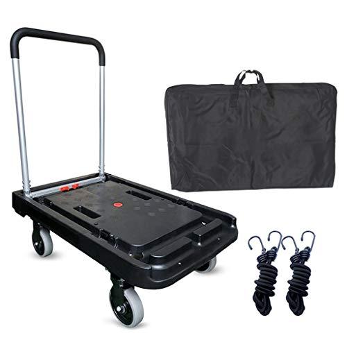 MFB Vollautomatisches Klapprad Home Discount-Plattform-Hand-Hochleistungs-Flachbett-Transport 150kg-Plattform-LKW-Heavy-Multifunktions-Home-Discount-Plattform-Handlaufkatze senden Tragetasche