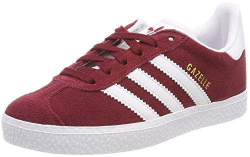 detailed look 14a45 21d8f Adidas Gazelle, Unisex Kids  Low-Top Sneakers , Red (Buruni   Ftwbla